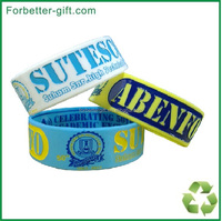 one inch custom silicone wristbands