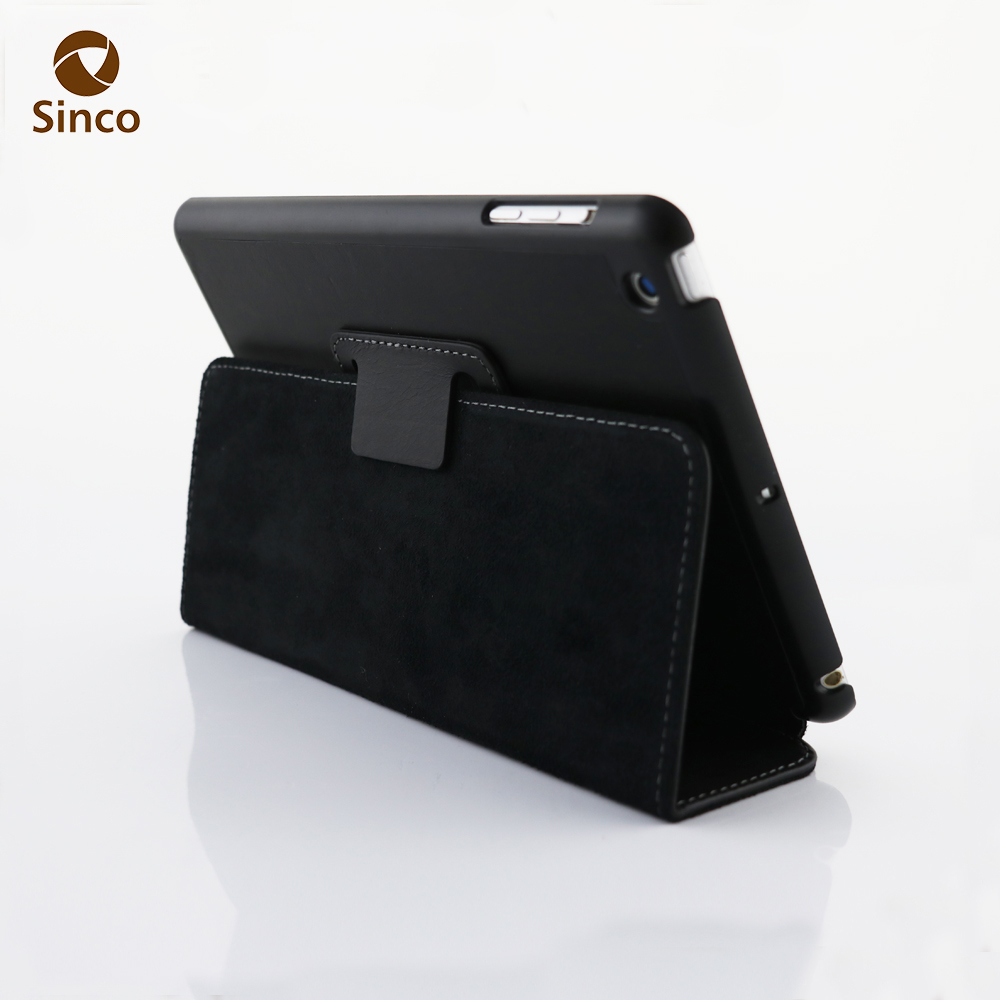 Most popular tablets case of genuine leather flip case for Ipad mini retina