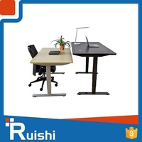 Ruishi brand modern office furniture popular in uk office desk electric uplift table
