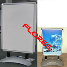 water filled base aluminium poster stand with wheels