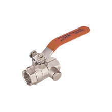 Long level handle type extension stem brass ball valve with nipple