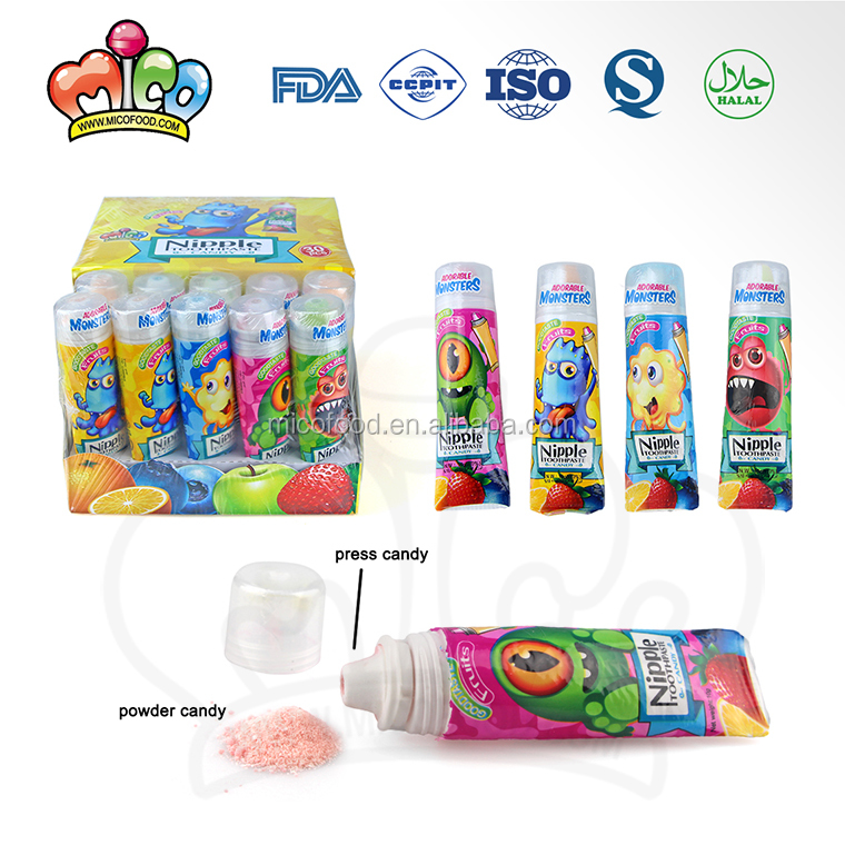 Cartoon monster toothpaste sweet fruit powder candy