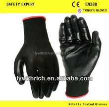 13G nitrile coated gloves,latex coated work gloves,working gloves guantes de trabajo recubiertos de nitrilo