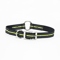 Factory Supply glow in the dark reflective dog collar large zinc alloy buckle pet products training