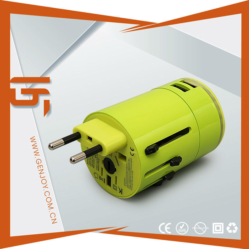Top Selling Power Electric Usb Travel Adaptor 3000mA With Led Logo