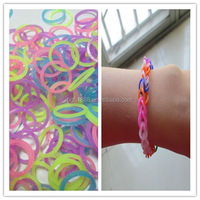 Colorful Christmas Gift Cheap Silicone Loom Bands Kids Kit Rubber Bands DIY Bracelet