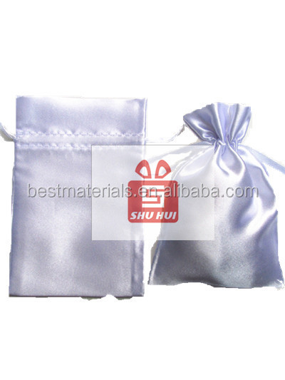 Satin zip bags used in things packing new style satin pouch underwear bag cheap satin drawstring bag