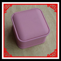 Pink Color Plastic Stud Earring Holder