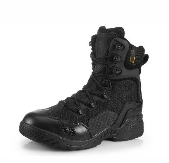 Men's Lace Up Military Tactical <strong>Boot</strong> With Side Zipper