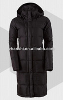 European Style High Quality Winter Long Down Feather Overcoat For Women
