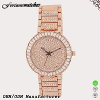 China fatory name brand wholesale luxury gold watches for women