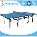 Indoor Two folded wheel ping pong table competition table tennis desk
