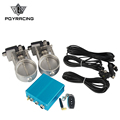 "PQY RACING - 3""/76mm Vacuum Exhaust Cutout Electric Control Valve Kit With Vacuum Pump 2 sets PQY-ECV23"