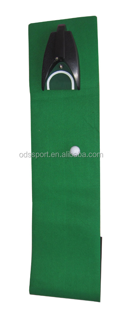 indoor golf putting green mat with golf ball return