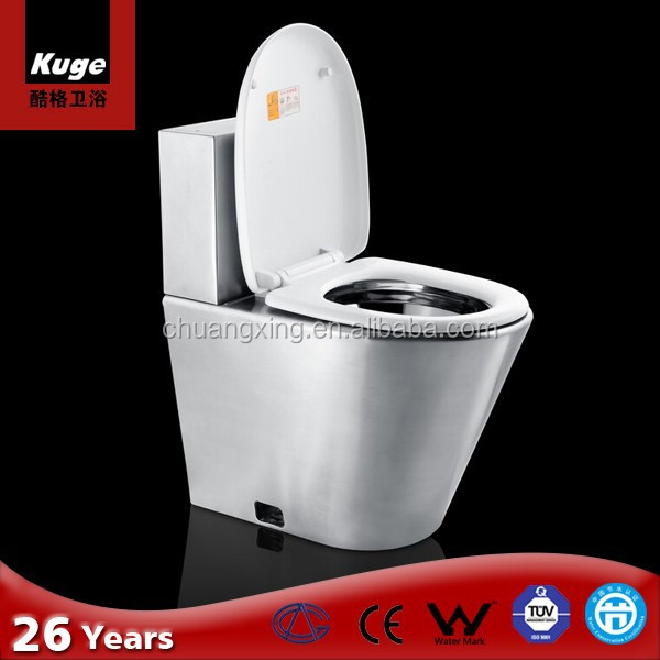 Kuge stainless steel toilet bowl for philippines market