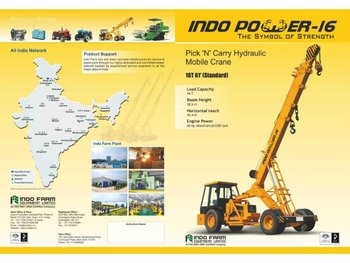 Hydraulic Pick and Carry Mobile Crane Manufacturer India