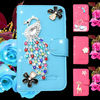 Diamond bling glitter jewelry crown leather phone case for iphone 5 leather case