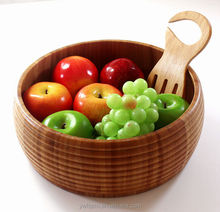 New design health care high quality hand carved bamboo wood salad bowl