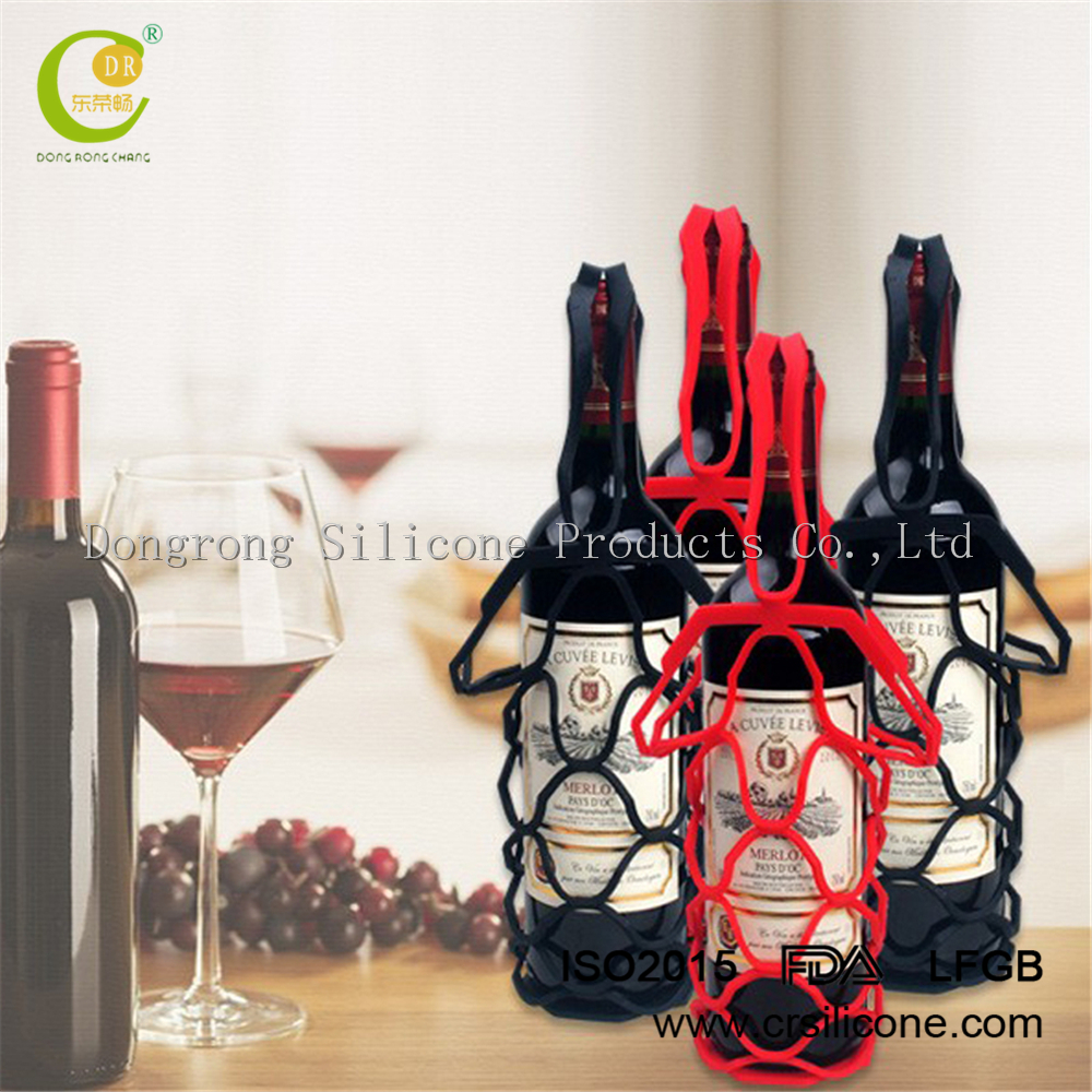 <strong>Wine</strong> Gift! Foldable Unbreakable Reusable Travel Gear Accessories Silicone Funny <strong>Wine</strong> Bottle holder bags