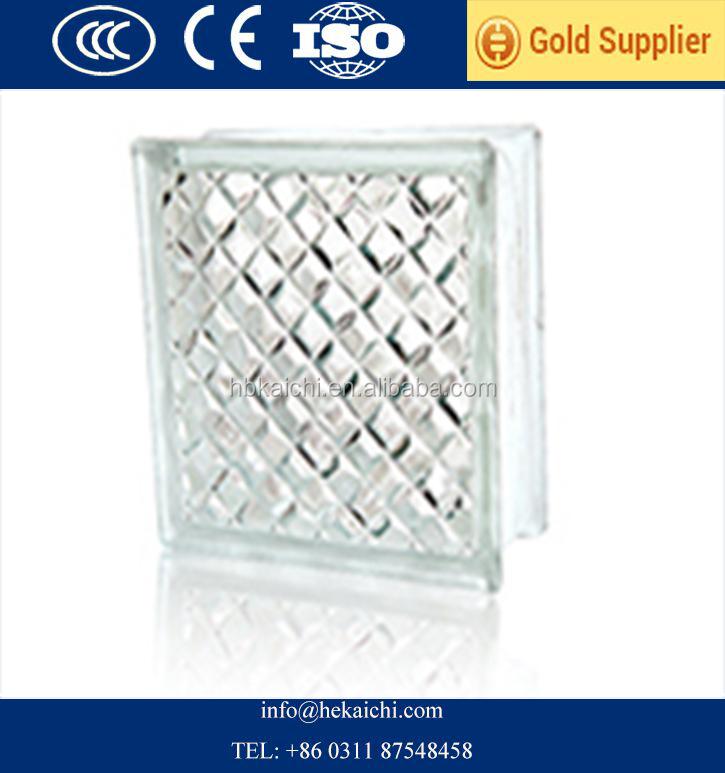 Transparente vidrio de color bloque ladrillo 190 190 80mm - Bloque de vidrio precio ...