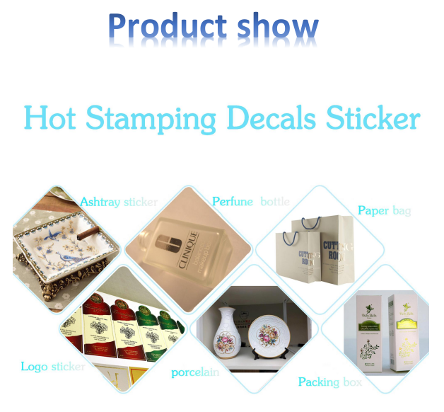 Gold foil stamping water transfer decal papers for glass perfume bottle OEM printing services