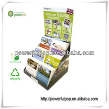 travel brochures cardboard side kick PDQ display