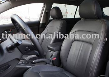seat covers in leather material