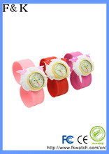 Top selling interchangeable kids silicone slap watch many colors avilable