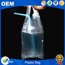 Multiply Choice Packing Use Reusable Hpde Plastic Vest Carrier Bag