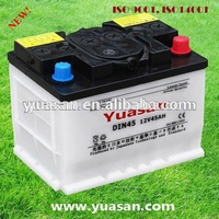 Yuasan 45AH Dry Charged Vehicle Battery Lead Acid 12V DIN45 Car Battery