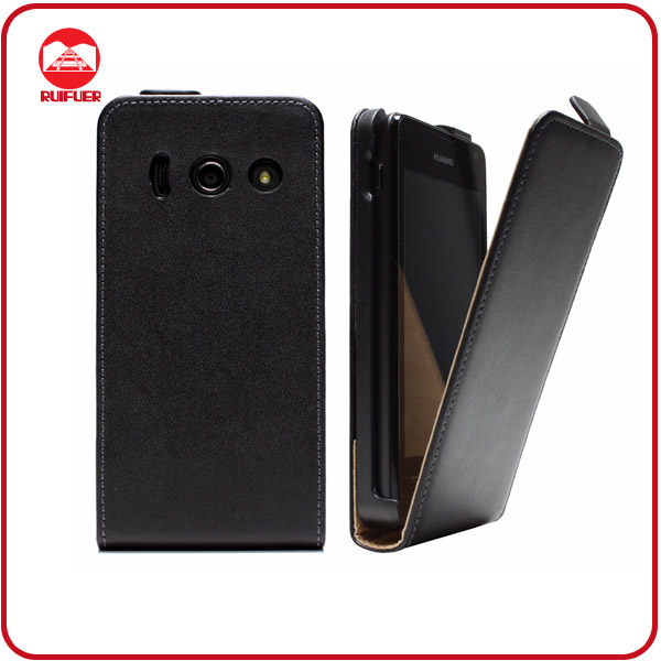 RF Manufacturer Wholesale Ultra Slim Magnetic Flip Leather Mobile Phone Case for Huawei Ascend Y300