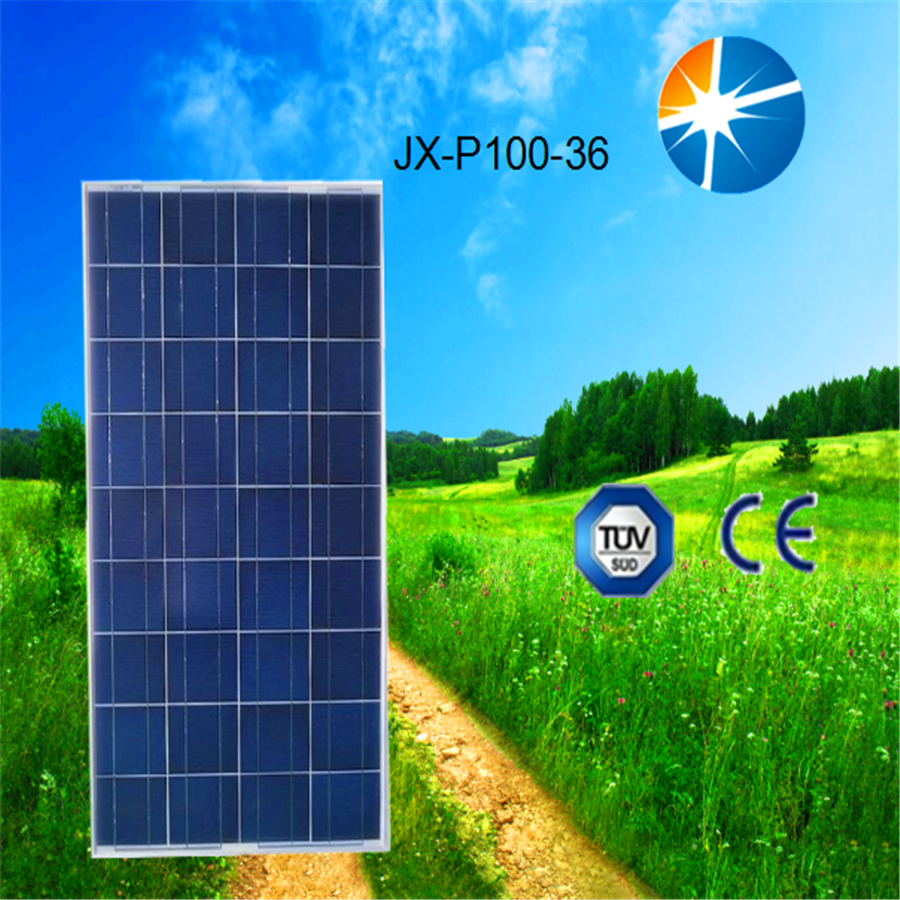 Polycrystalline silicon high power effciency 100w solar cell/ solar panel price