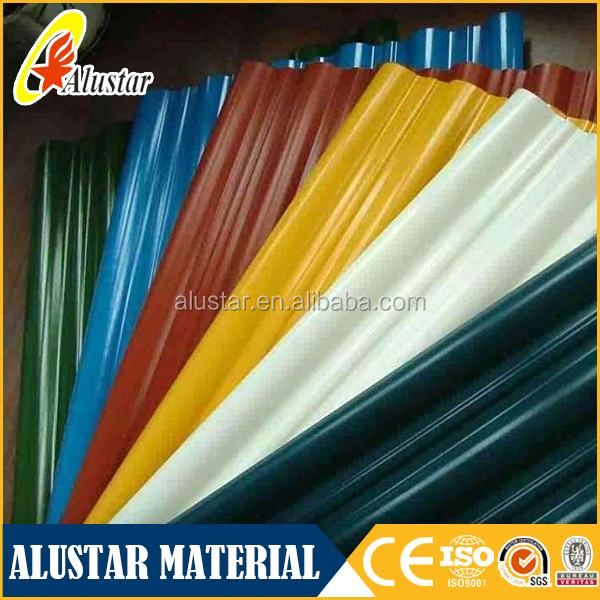 Zinc Coated Roofing sheet Corrugated Galvalume / Galvanized Metal Roofing Sheet