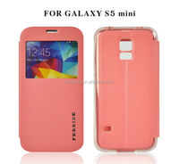 New design mobile phone PU leather cover for samsung galaxy s5 mini