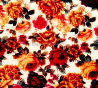 flower print fleece fabric for blanket bedding