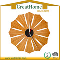 Soundless Home Decorative Flower Shape Bamboo Wall Clock