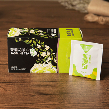 Green tea with jasmine flavor, double room tea bag