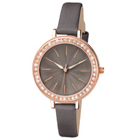 Fashion diamond bezel leather ladies watches for small wrists