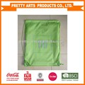 210D polyester drawsting shopping bags