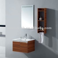 Trends modern melamine formaldehyde free wall hanging makeup bath cabinet vanity unit with light NT055