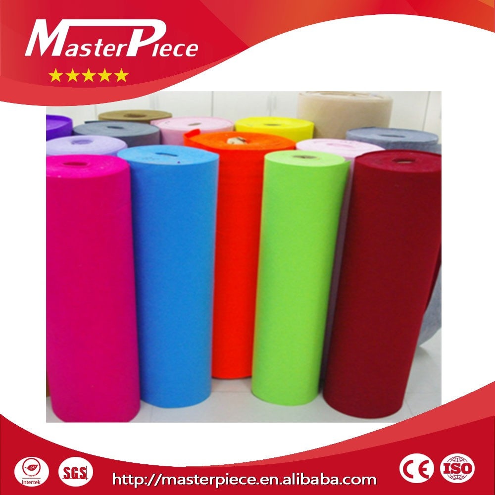 Customized Needle Punched Polyester Nonwoven Felt raw material