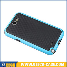 2 in 1 dual color tpu pc phone cover for galaxy note 2 back cover case