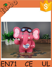 2015 cheap and cute custom made piggy bank / Elephant save money box Wholesaler for promotion gift or decoretion for sale