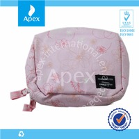 Pink promotional canvas small cosmetic bag