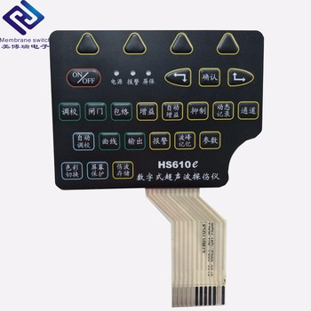 Custom Waterproof Membrane Keypad Switch with Metal Dome for Medical Equipment