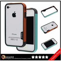 Keno Simple Design TPU Bumper for iPhone4 4S Bumper Case