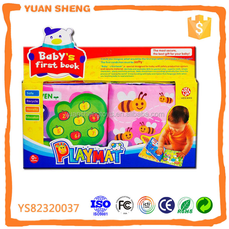 eco-friendly safe products cloth books educational toys for children