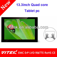 "New Quad core IPS Tablet 13.3"" camera Tablet quad"