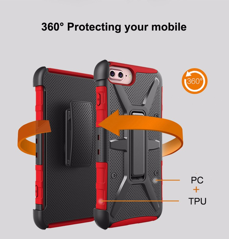 New And High quality PC TPU 3 In 1 Combo Armor Case For iPhone7 7Plus