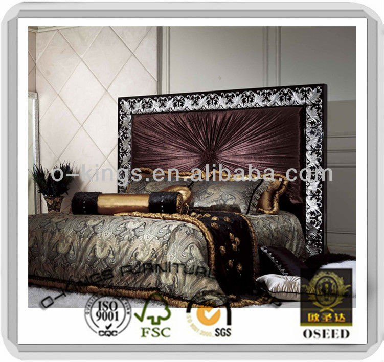 Latest neoclassical bedroom furniture King size bed designs